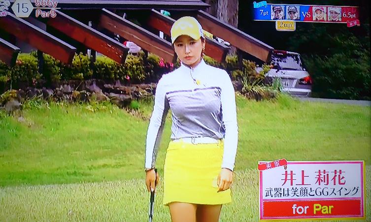 見せパン、穿いていてもゴルフウェアはミニスカ(後部も完全なスカート)に限りますよねっ。