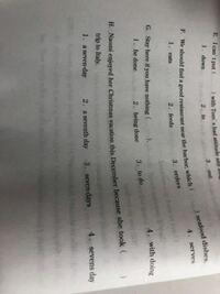 高校英語、文法の問題です。 Hの問題がわかりません。  答えは1です。 解説お願いします。