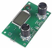 DSP・FMラジオモジュールの使い方を教えてください。 アマゾンなどで写真のようなモジュールが1,000円程度で販売されていますが、中国語を自動翻訳したショップばかりで、使い方がよく分かりません。 どうやら2つのプッシュスイッチ付きのロータリースイッチで、音量や選局その他の制御を行うようです。 使い方のサイトをご存知の方、実際に購入された方、使い方を教えてください。