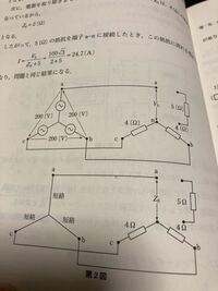 エネルギー管理士 22年電気基礎です。 三相不平衡で5Ωの所 鳳 テブナンで考えると電圧V 0が100√3 V になるらしいです。 なぜ 何でしょうか? 教えてください