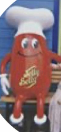 このキャラクターの名前わかる方いますか? 赤いボディに白い帽子のようなものを被っています