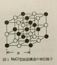 この黒丸の原子について解答は面心立方格子と書いてありますが、中心に原子が1個ありますから、体心立方格子の可能性もあると思うのですが、 判断の基準はなんですか?