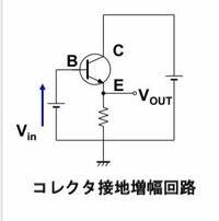 電子回路の問題で、下の回路図の、コレクタ接地増幅回路の小信号等価回路の解析です。 小信号等価回路、電圧利得、電流利得、入力インピーダンス、出力インピーダンスを求めよという問題なのですがどなたか、計算...