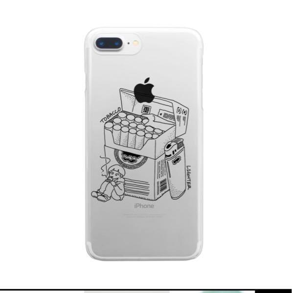 こんな感じでクリアケースになにかデザインがかいてあるiPhoneケースってなんて調べれば出てきますか?