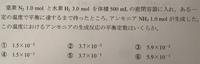 化学 平衡定数 この問題の解き方を教えてください! 答えは➃です。お願いします。