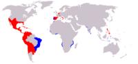スペインは、日本だけは植民地にする意思が皆無だったのですか? 大航海時代。 実は少し前に、このヤフー知恵袋の世界史カテゴリのとあるカテマスの方と議論になりまして。   その方は、大航海時代において当時のスペイン王国は日本を植民地にする意思は皆無だった。それなのに豊臣秀吉や徳川家康は自己保身のためにのみ、冷酷なキリスト教弾圧と時代に取り残される愚かな鎖国を強行したのだと語っていました。  さら...