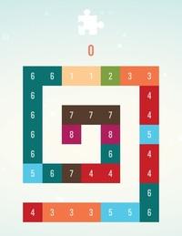 数字パズル『ゲット10デラックス』というゲームのステージ61の解き方がどうしてもわかりません。 2つ以上並んだ同じ数字をタップすると、タップした場所で1つ大きな数字にまとまります。 このステージでは最後に残る数字を1つにしなくてはいけないのですが、頑張っていろいろ試しても2つは残ってしまいどうしてもクリアできません。 解き方が分かる方、教えてください。