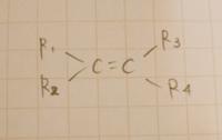 R1≠R2、R3≠R4ならシストランス異性体が存在しますが ・R1とR2とR3とR4がすべて違っても存在するんですか 存在するとしたら ・どの状態がシスあるいはトランスにあたるんですか