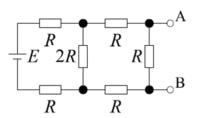 画像の場合の回路で電源電圧と内部抵抗の求め方がわかる方がいれば答えを教えていただきたいです。 また回答までに至る過程も記述していただけますでしょうか?  下図の回路の等価電圧原の電源電圧E0および内部抵抗R0をテブナンの定理を用いて求めてください。ただし端子Bを電圧の基準でお願いします。