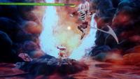 写真あり*サクナヒメの荒湯滝で先へ進めず困っています。 ゲーム内での次元?が違うようでこちらの攻撃が当たりません… この敵はどのように攻略すればいいのでしょうか?