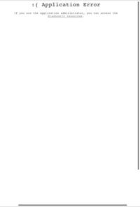 ある一つのホームページを開こうと思ったらこの画面が出てきてアプリケーションエラーになります。 ほんとにこのホームページが開かないと困るのでわかる方お願いします。