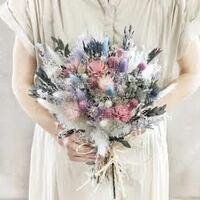ドライフラワーのお花屋さんに行こうと思っています。花束は大体いくらくらいかかりますか。 これくらいの大きさのを頼もうと思っています。