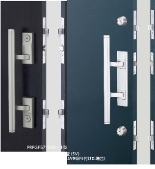 マンションを賃貸に出しています。 ドアのハンドルを交換するのですが、鍵のシリンダーをドアハンドルに内蔵したものと、シリンダーが独立したものがあります。写真の左と右です。 どちらが良いでしょうか...