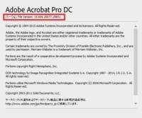 譲り受けた物なのですが、Adobe Acrobat Pro 2017(永続ライセンス版)なのか知りたいです。 画像より、バージョン File Version: 15.009. 20077.29851 こちらはAdobe Acrobat Pro 2017(永続ライセンス版)のバージョンでお間違いないでしょうか。 それともAcrobat DC 2015(永続ライセンス版)になるのでしょうか。  ...