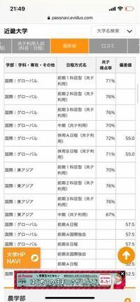 近畿大学の共通テスト利用入試を考えているのですが、国際学部で英語のみの前期1教科1科目試験のボーダー得点率が71%となっているのですが、こんな事はありえるのでしょうか。前期2科目や3科目のボーダーは76%と...