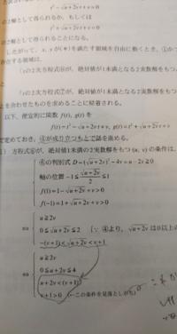 絶対値1未満の2実数解をもつ条件を考えるのに何故軸の位置の条件にイコールが含まれるのですか?軸が-1や1になったら絶対2実数解は持たないと思います。