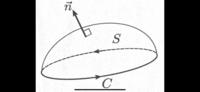 ベクトル解析の次の証明を教えてください。  全空間で定義されたベクトル場A(r)と閉曲線Cがある。Cを境界とする任意の曲面S上で次の面積分 ∫ rot A(r) • dS の値が一定となることをストークスの定理を用いて証...