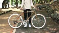 クロスバイク 自転車 添付写真のようなウッドデザインの自転車を探しているのですが、大手自転車チェーンでは取り扱っていませんでした。 ネットで調べても売り切れとかで出てきません。 諦めるべきですか?