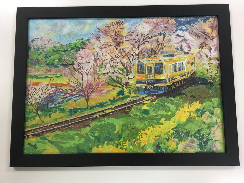 写真スポットを教えて下さい。 風景画を描きたいのですが次の条件に合う場所を知っている方、教えて下さい。 宮城県又は福島県 桜と電車が収まる場所 出来れば川や橋が入る 以上です。参考までに以前描い...