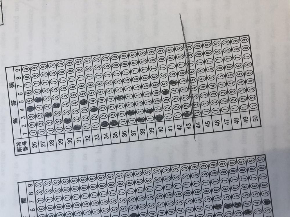 共通テストでやらかしたかも知れません。 マークがズレないように、回答用紙の1番最後の回答番号の下にいつも線を引くのですが、最後の最後でそれを消し忘れました。 これは回答の読み取りに支障は出ますか?? (わかりにくいので写真を置いておきます…)