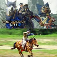 『モンスターハンターライズ』のガルク騎乗時で質問です。  体験版が配信中の『モンスターハンターライズ』ですが、 今作はおなじみの猫タイプのオトモと、 騎乗ができる犬タイプのオトモ(ガルク)と一緒に狩猟ができるようなんです。  ハンターがガルクに騎乗している場合、攻撃はガルクがするようで、 ハンターは乗って移動するだけのタクシー要素しかないんですが、  『モンスターハンターライ...
