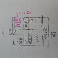 風水とベッドの位置  間取り(画像を見てください) 寝室にベッドを2台置くのですが、画像の位置、北枕は風水的にどうでしょうか? 構造上、北か東を頭にするしかありません。 東を頭にした方がいいのでしょうか?
