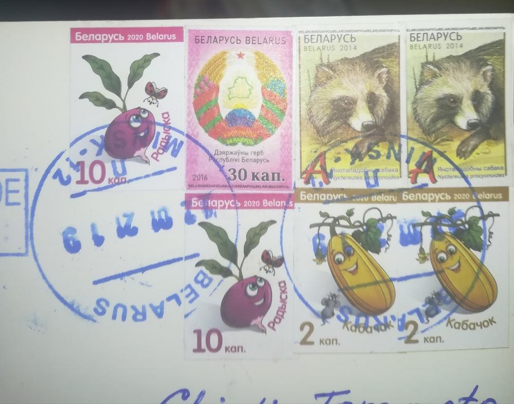 【画像あり】ベラルーシの切手について これは普通の切手ですか? さすがに切手だとは思うのですが まるでコピー用紙に印刷したような 今までの(私の)切手と違う感じで 驚きました。 簡易版?通常版? 事