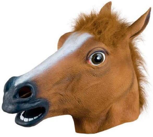 馬の被り物つけながら外出したら警察とかに注意されますか?