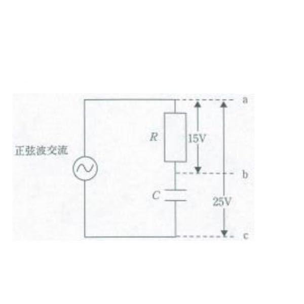 工学の問題について 図の RC の回路で、b-c 間の電圧[V]はいくつか。 解説とともにお願いしますm(_ _)m