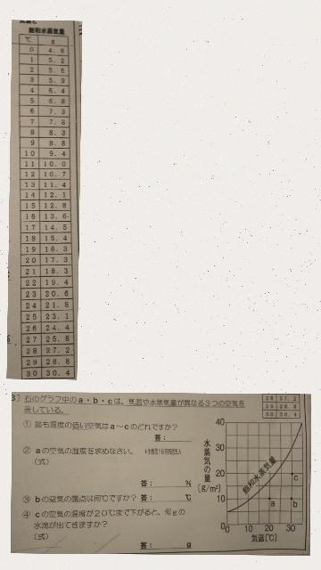 中2の理科で、①②③④の問題が分からないので分かる方教えて頂きたいです。