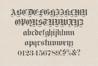 ブラックレターフォント(下の写真)って著作権とかありますか? そもそも書体やフォントに著作権はあるのでしょうか?   フォント 字体 書体 著作権 文字