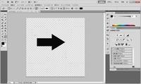 Photoshop CS5を使っています。 こちらのシェイプの矢印の画像を、塗を消して枠線にしたいのですが、どうそうさしたらいいでしょうか?