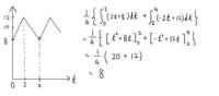 三角波の平均値の求め方が画像のようになりました。 答えは10だと思うのですが、何が間違っていますでしょうか?