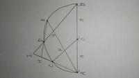 中学数学の幾何の問題です。 得意な方、解説をお願いします。(解答はありません) 「半径3の半円があり、中心をO、直径をABとする。半円Oの円周上に弧AC=弧CD=弧DEを満たす3点C、D、EをA側から順にとる。線分AEと線分OC、線分BDとの交点をそれぞれF、Gとする。また、直線ACと直線ED、直線BDの交点をそれぞれH、Iとする。AC=2のとき、線分HIの長さを求めよ。」   三角形ACF...