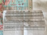 刺繍キットのこの表の意味を教えてください。 ステッチの種類、本数、 1+2や0+1 8根Aと8根Bの意味など。