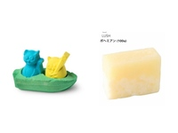 高3女子です。男性の方に質問です。入浴剤か石鹸をプレゼントされるとしたらどちらが嬉しいですか? 入浴剤は画像の左側で石鹸は右側の物です。