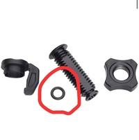 ロードバイクのブレーキについて質問です。 シマノアルテグラR8000(キャリパーブレーキ)の、ケーブルアジャストボルトユニットのこのゴム製の輪っかは何の為に付けてあるのでしょうか? 風化してしまったのか、...