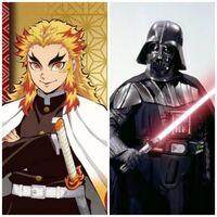 鬼滅の刃の煉獄杏寿郎とスターウォーズのダースベイダーが戦ったら、どっちが勝つと思いますか?