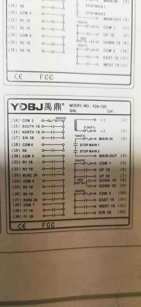 24Vのユニックのラジコン配線図見て頂き、どの線からつなげばいいか教えて頂けないでしょうか。宜しくお願いします。