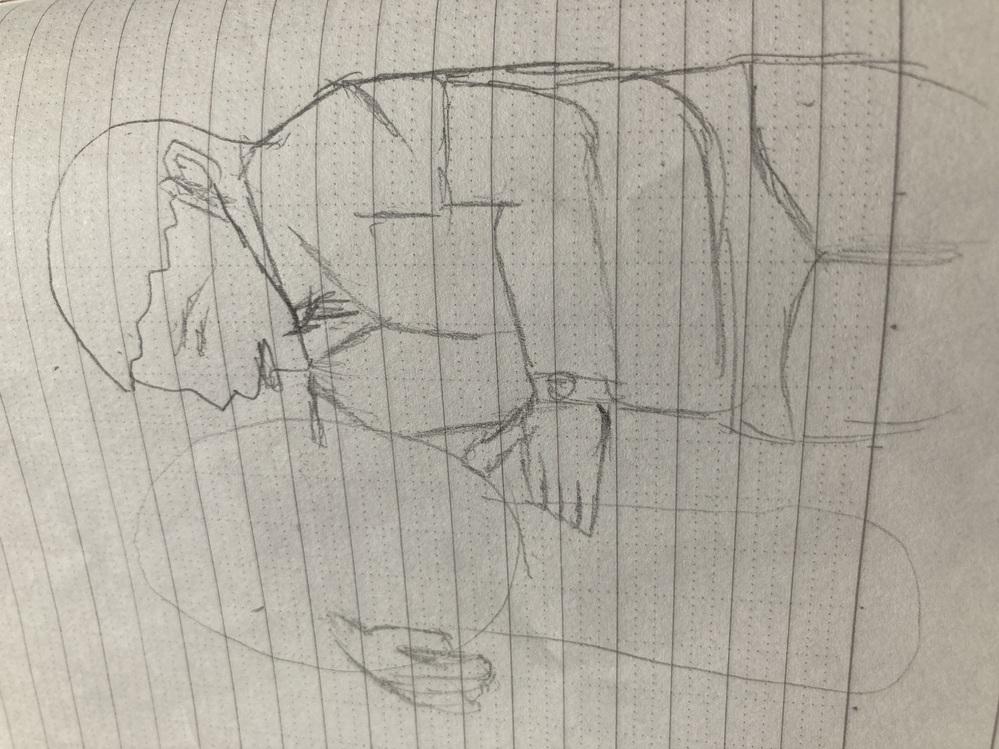 手はどうやって上達しますか? 腕組みしてる男の人描きたかったんですけど、手を直したいです。