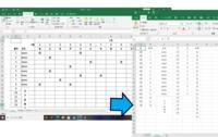 以前の質問の再度質問です 画像のような組ごとにSheetを分け組の年間(365日)で管理したいと思っています。 今このマクロでは1月度のリスト化は出来るのですが2月、3月~12月と横に作成したときにデータが飛...