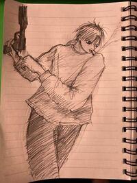 イラスト描きました。アドバイスください。 ぶっちゃけ褒めるところ無いと思うので、ボロカスにダメ出ししてください。僕はMです。 ただしあくまでアドバイスでお願いします。『死ねや』などの暴言は控えてください。ママに言いつけます。