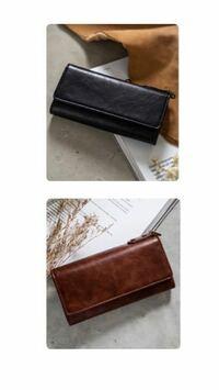 ブラックかブラウンどちらの財布にしようか迷ってるのですが皆さんだったらどちらを買いますか?画像が見づらいかもしれないですが、回答していただけたら嬉しいです。