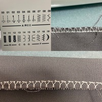 ミシンのほつれ止めの縫い目について、わかる方教えてください。 13番のほつれ止めで布の端を縫ったのですが、表はイラスト通りの縫い目になったけど裏はY字のようになってしまいます。これはどっちの糸が強い?もしくは弱い?のでしょうか。糸調子のダイヤルも1〜10まであって1と10試したけどあまり改善が見られません。