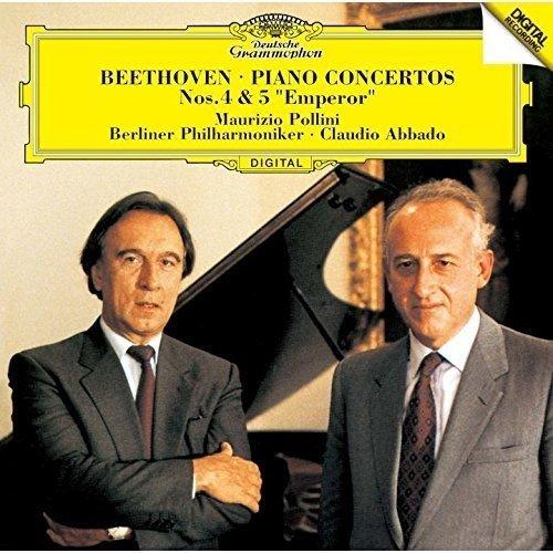 このCDはいかがでしょうか。感想など。 マウリツィオ・ポリーニとクラウディオ・アバド・ベートーヴェンピアノ協奏曲第4番&第5番「皇帝」・ベルリンフィル・DGグラモフォンです。Amazon等。