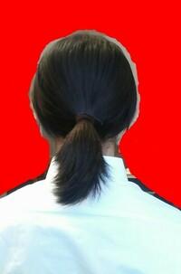 中学校の髪についての校則。私の学校には「学習の妨げになる長髪は編むか結ぶ。 」という校則があります私は学校で体育の授業以外で私の長い髪が学習の妨げになったと感じたことはありませんでした。しかし、画像の私の髪の長さの場合は結ぶべきでしょうか?また、私の学校には「ヘアピン、ヘアゴムは黒系のものとする」という校則がありますが画像で使われているヘアゴムは黒系のものに含まれるでしょうか?
