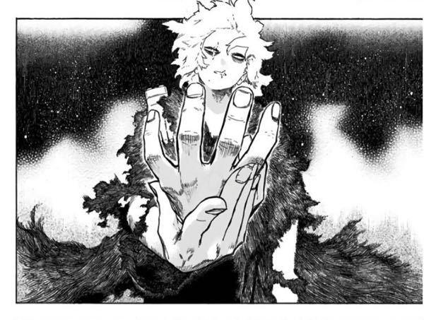 「僕のヒーローアカデミア」の死柄木がリ・デストロと戦った時の、この手を持つシーン、どうやって描いているのでしょうか?? 淡い光の感じやそれを強調する服や髪の毛の表現、、、 画材や描き方等教えて...