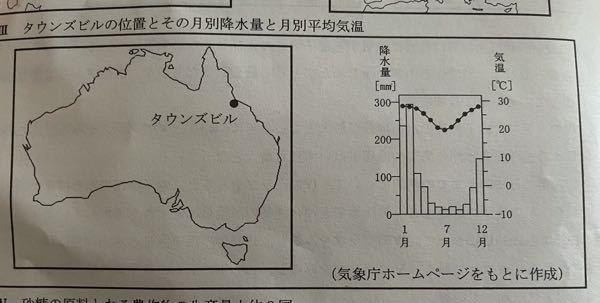 愛知県の公立高校の入試の問題なんですが、この右の雨温図の夏の降水量って少ないですよね? 解答速...