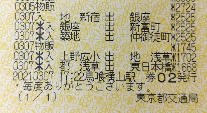 教えてください。 先日、東京メトロと都営地下鉄で乗り継いで旅行しました。 まず東京メトロで新宿→浅草 乗継で都営地下鉄で浅草→東日本橋 と、乗車しました。 履歴を見たところ 東京メトロ分は242...