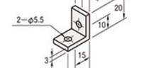 2-φ5.5 に合う木ネジのサイズは?  添付画像の穴に「2-φ5.5」とありますが、これは直径何ミリの穴になりますか? またこの穴に合う木ネジのサイズはいくつでしょうか?